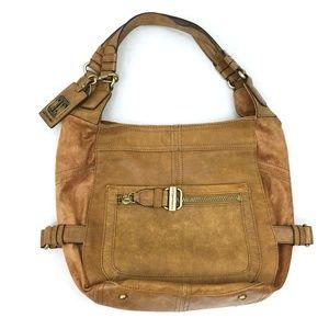 Tiganello Tan Distressed Leather Shoulder Bag